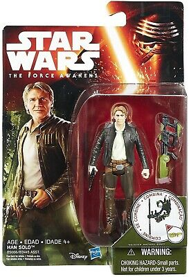 "Hasbro Star Wars The Force Awakens HAN SOLO 3.75"" figure Jungle Mission NEW"