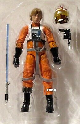 "Star Wars Black Series Archive LOOSE 6"" Figure LUKE SKYWALKER X-Wing Pilot Gear!"
