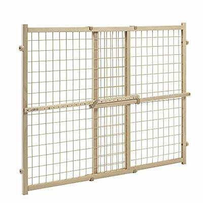 Evenflo Position and Lock Tall Pressure Mount Wood Gate (expands from 31- 50 inc