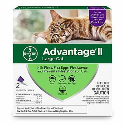 9lbs Bayer Advantage II Flea Prevention for Large Cats