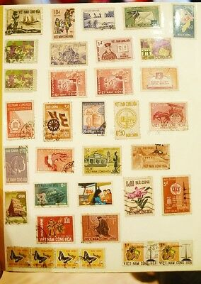 Random x 10 stamp postage of world