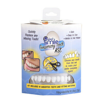 Instant Smile Temporary Tooth Repair Kit Looking Fix for Missing or Broken Tooth