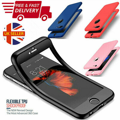 360° Hybrid Ultra Thin Hard Back Shockproof Cover Case For iPhone 8 7 6 6s Plus