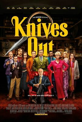 Knives Out - original DS movie poster 27x40 D/S - 2019 - FINAL