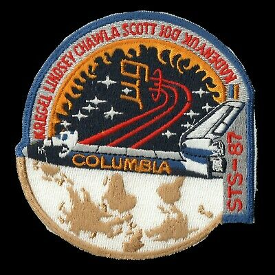 1997 NASA SPACE SHUTTLE COLUMBIA STS-87 Embroidered Sew-on Patch