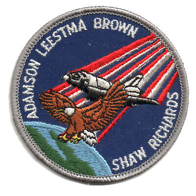 "1989 NASA SPACE SHUTTLE STS-28 Embroidered Iron-on 3"" Patch w/ Gray Trim"