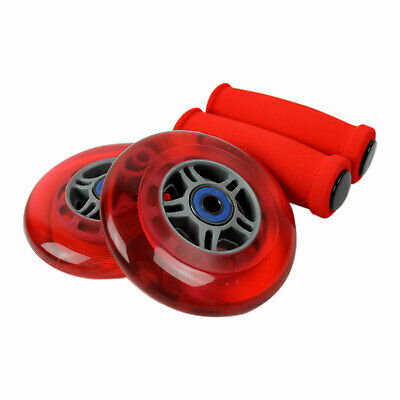 RED 125mm Wheels Bearings Handle Grips Replacement Set for RAZOR A3 Kick Scooter