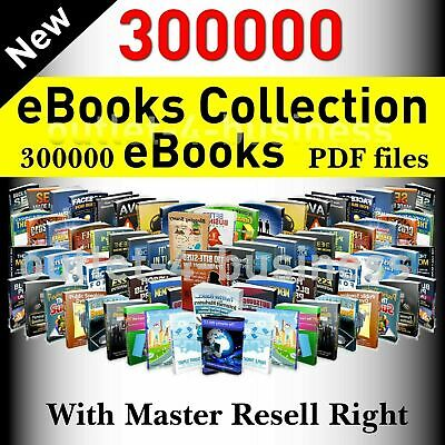 300000+ eBooks Package Collection PDF with Full Master Resell Rights