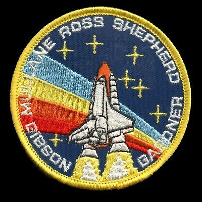 "1988 NASA SPACE SHUTTLE STS-27 Embroidered Iron-on 4"" Patch w/ Light Gray Trim"