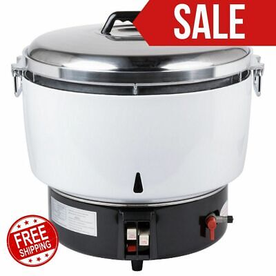 Natural Gas 110 Cup (55 Cup Raw) Gas Rice Cooker Restaurant Kitchen - 14,000 BTU
