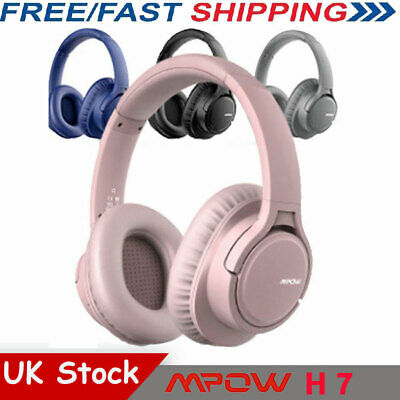 Mpow H7 Stereo Bluetooth Headset Headphones Noise Cancelling Mic Wired&Wireless