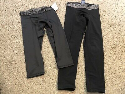 youth LOT 2 C9 by CHAMPION Fitted Black Athletic Pants Leggings girls Small 6-7