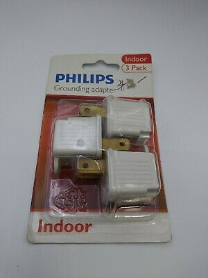 Phillips UL Listed 3 to 2 prong 125V AC Outlet Grounded Adapters Indoor