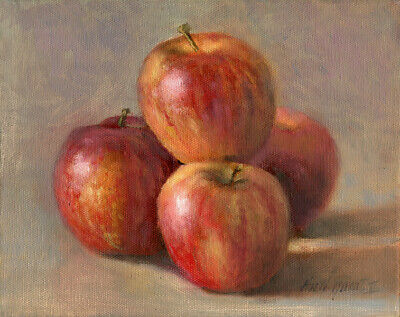 Apples  8x10 in. Original Oil on stretched canvas  HALL GROAT II