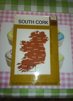 Ordnance Survey of Ireland Half-inch Map Number 25 South Cork 1980 OS