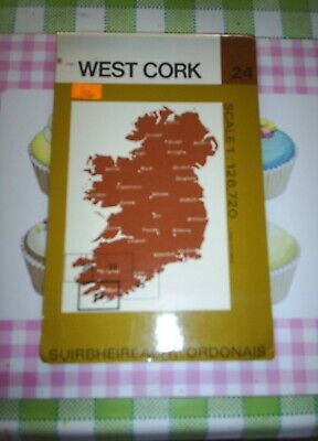 Ordnance Survey of Ireland Half-inch Map Number 24 West Cork 1980 OS
