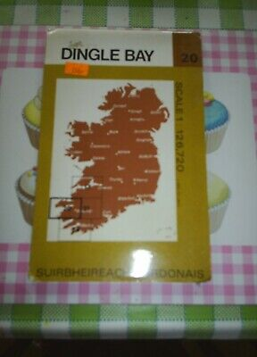 Ordnance Survey of Ireland Half-inch Map Number 20 Dingle Bay 1980 OS