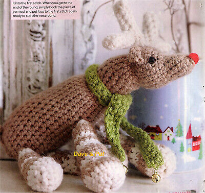 Crochet Pattern Ralph The Red Nosed Reindeer Christmas Toy - Rooster Almerino Dk