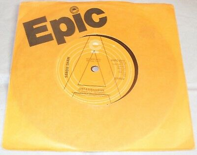 """Sandie Shaw- Just A Disillusion 7"""" Vinyl Promo Epic From 1977 U.K Pop Eurovision"""