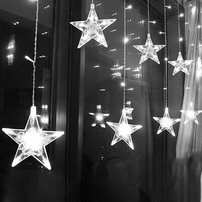 Christmas Curtain Light LED Star Garland 2.5M 220V EU Outdoor/Indoor Lamp Party