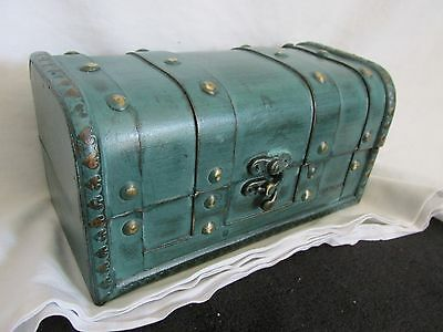 Mini Treasure Chest Small Trunk Box Vintage Color&Style Jewelry Watch Storage!!