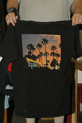 In N Out Burgers T Shirt Los Angeles Car Culture California Sunset Art Xl