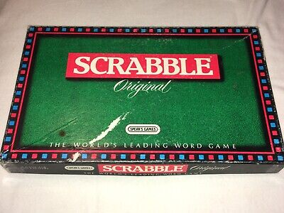 """Boxed """" Scrabble """" Original Boardgame The Worlds Leading Word Game"""
