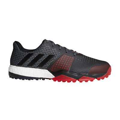 Adidas Adipower Sport Boost 3 Mens Golf Shoes - Black/Scarlet - WIDE - 9