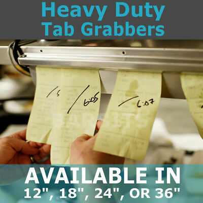 "Tab Order Grabber - Aluminium Food Ticket Rack, Bill Holder In 12"" 18"" 24"" 36"""