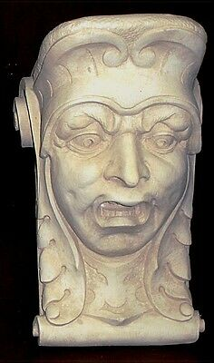 Horror Face Wall Corbel Bracket Shelf Architectural Accent Home Decor