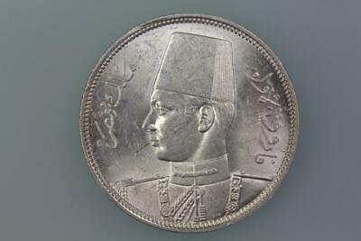 Egypt  5 Piastres Coin 1939 Km 366 Uncirculated