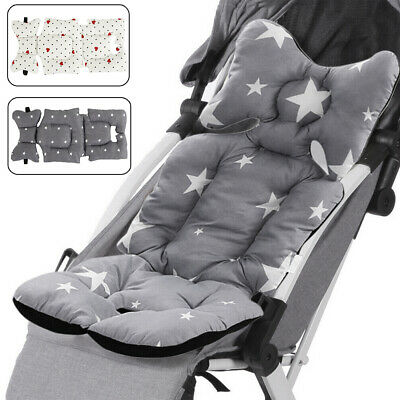 Washable Baby Stroller Pram Pushchair Car Seat Liner Mat Cushion Head Support SE