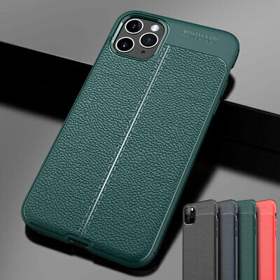 Slim Shockproof Hybrid Rubber TPU Leather Case Cover for iPhone 11 Pro Max XR XS