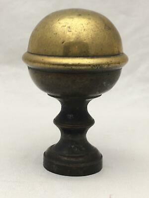 """Vintage / Antique 3"""" Tall Brass Round Ball Finial, Ornament About 1.75"""" Across"""