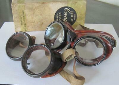 Two American Optical Company Duralite Coverglas Welder's Model Goggles