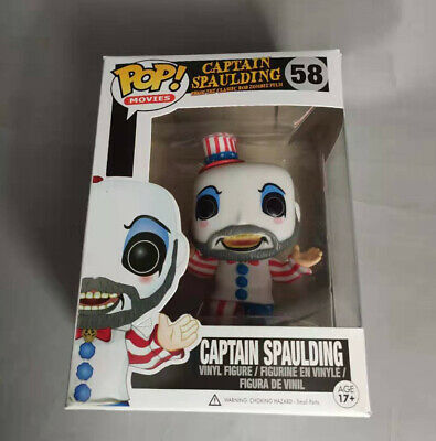 Funko Pop Movies Captain Spaulding Action Vinyl Figure Toy in Box #58