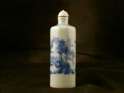 Wonderful Chinese Qing Dy Blue & White Porcelain *Landscape* Snuff Bottle Naa002