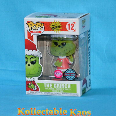 The Grinch - Santa Grinch Flocked Pop! Vinyl Figure (RS) #12