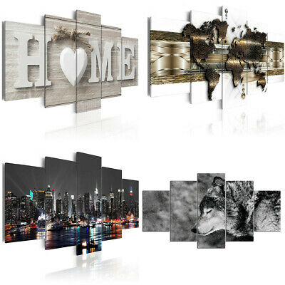 5 Huge Modern Canvas Print Pictures Painting Wall Art Wall Home Christmas Decor