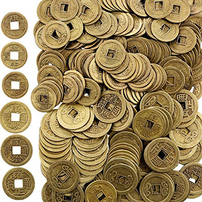 Chinese Feng Shui Coins Ching Dynasty Style Coins Good Luck Coins 200 Pieces New