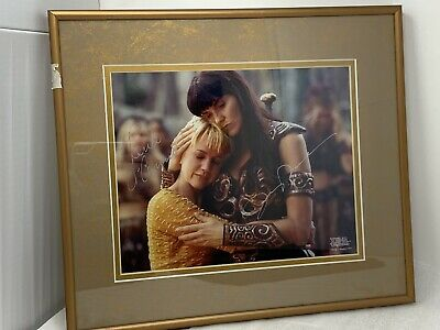 """Xena Lucy Lawless & Renee O' Connor Signed Autographed Photo Framed Matted 8x10"""""""
