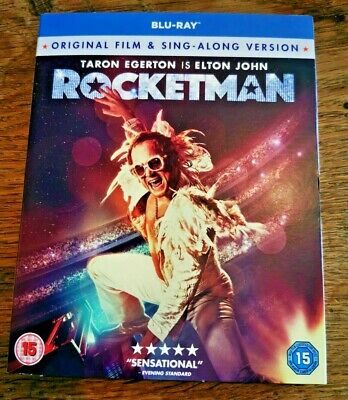 ROCKETMAN Blu Ray DVD 2019 Elton John  - Brand NEW, SEALED & SLIP COVER