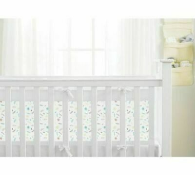 BreathableBaby Airflow 2 Sided Cot Liner Wrap - Marabou Leaves