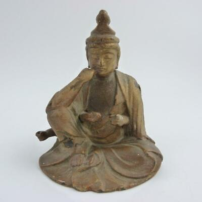 Rare Antique Chinese Gilded Lacquer Multi-Armed Buddha Marici