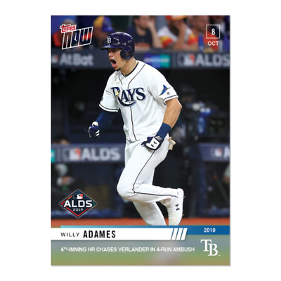 2019 TOPPS NOW # 984 WILLY ADAMES ALDS HR Tampa Bay Rays In Stock 145 Printed
