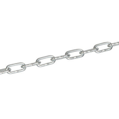 2.5m x 2mm Galvanised Steel Link Chain - Outdoor Rated Gate Lock - Security Wire