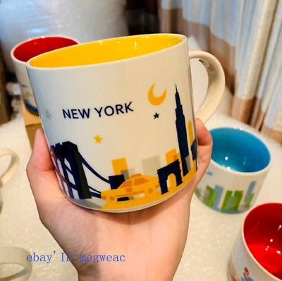 414ml Coffee Mug Cup YAH New York You Are Here Collection Starbucks City in Box