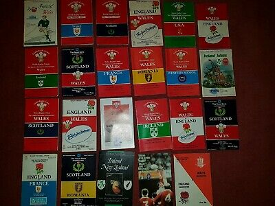 23 x 1986-1989 International Rugby Union Programmes. Wales 5 Nations plus +