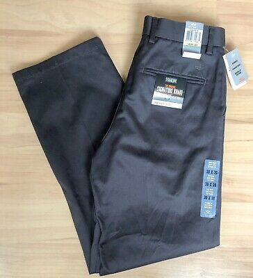 Brand New Dockers Straight Fit Flat Front Grey Men's Smart Trousers W30 L30