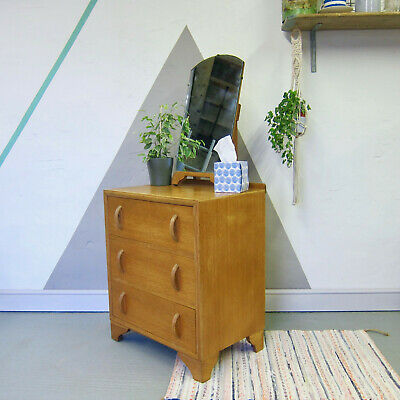 Mid Century Chest Drawers Bedroom Dressing Table Vintage Storage